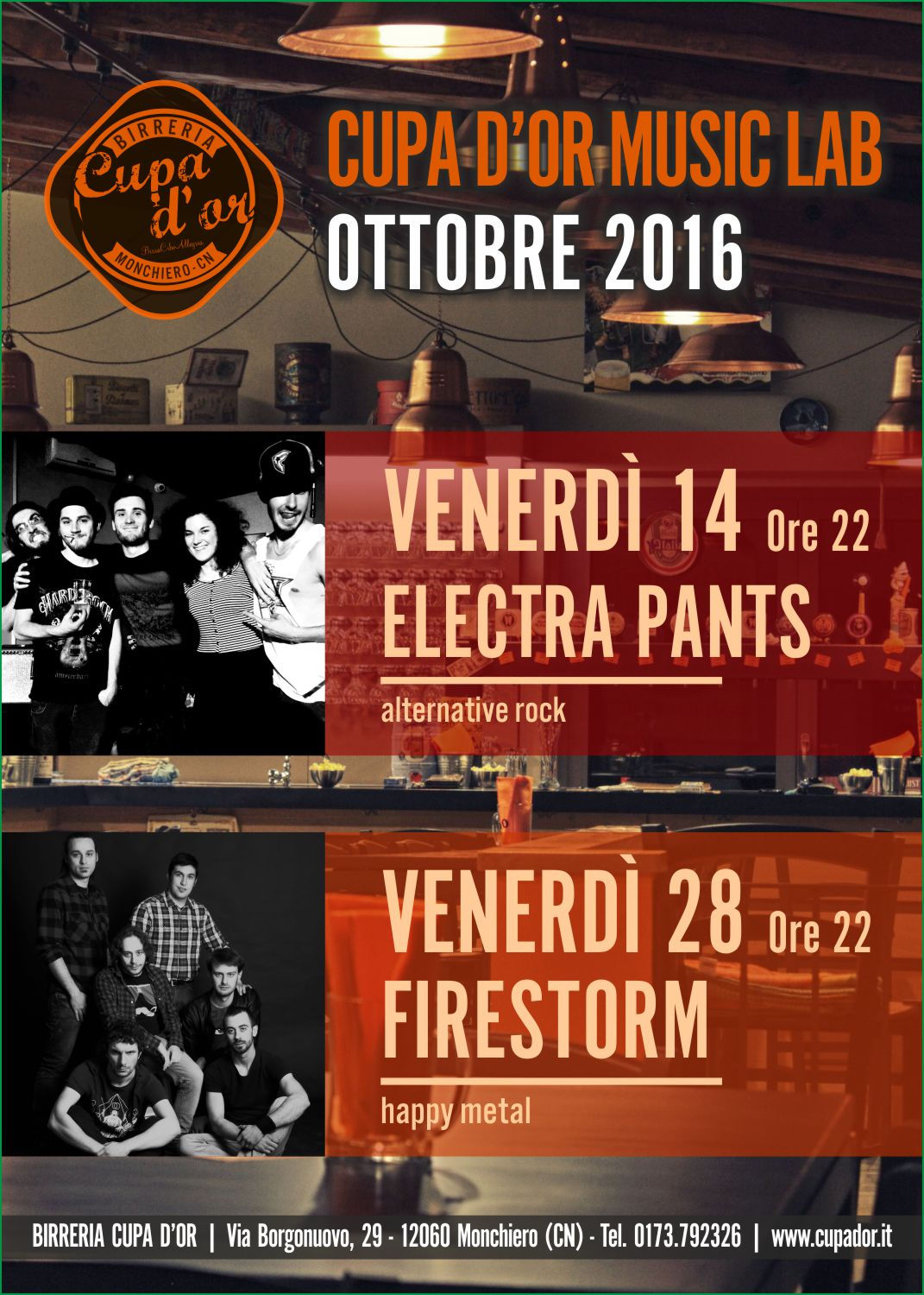 CUPA D'OR MUSIC LAB – OTTOBRE 2016