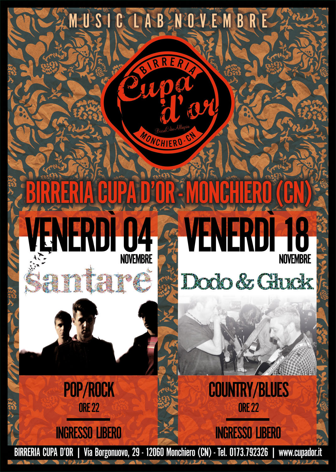 CUPA D'OR MUSIC LAB – NOVEMBRE 2016