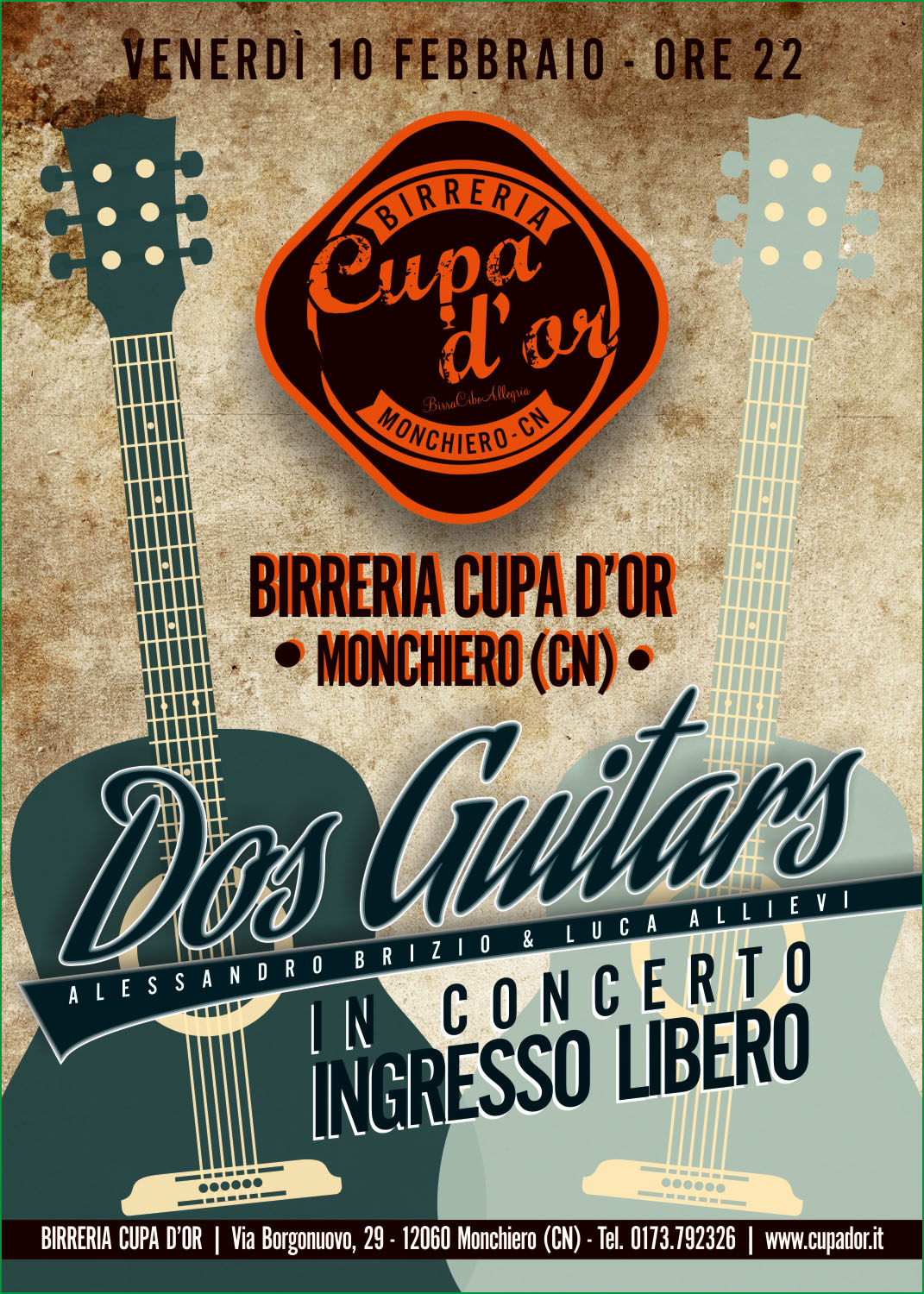 Dos Guitars live alla Cupa D'or