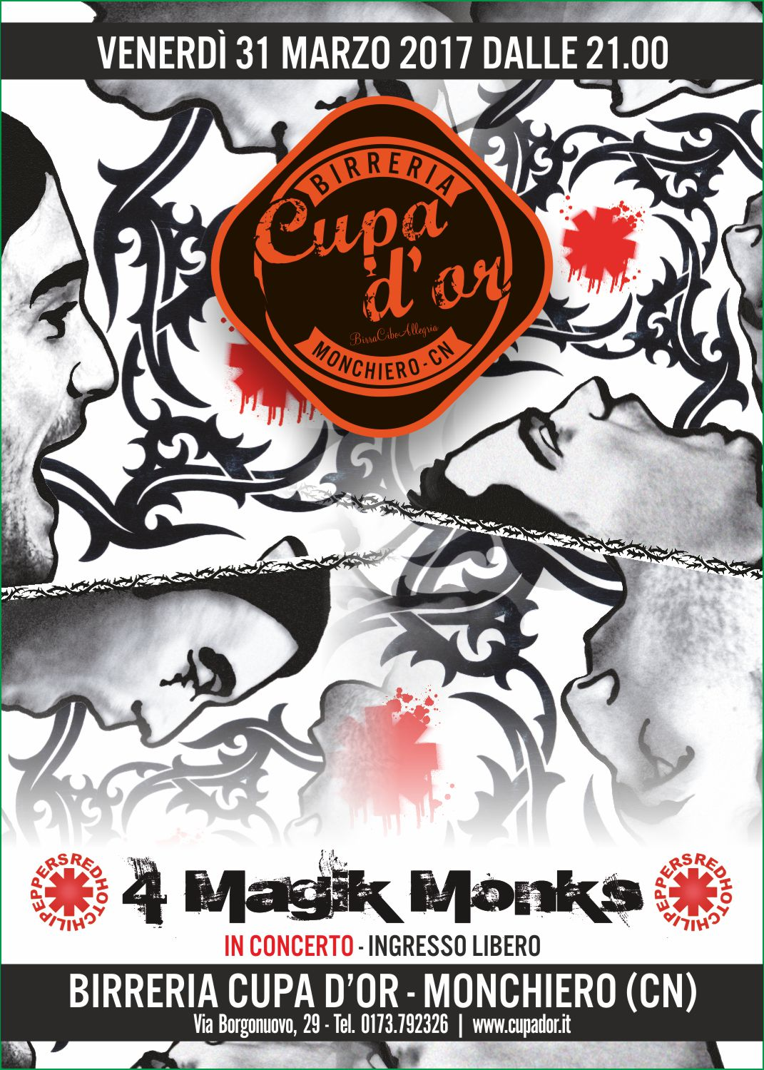 4 magik monks – tributo rhcp – live alla cupa d'or