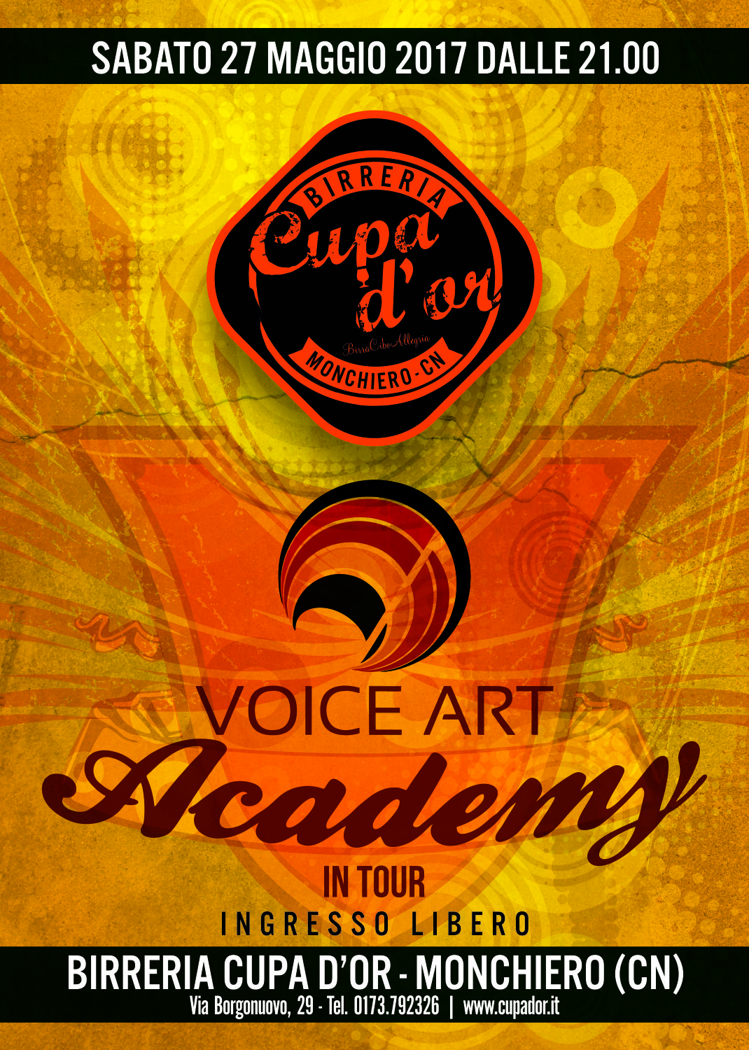 Voice art in tour live alla Cupa D'Or