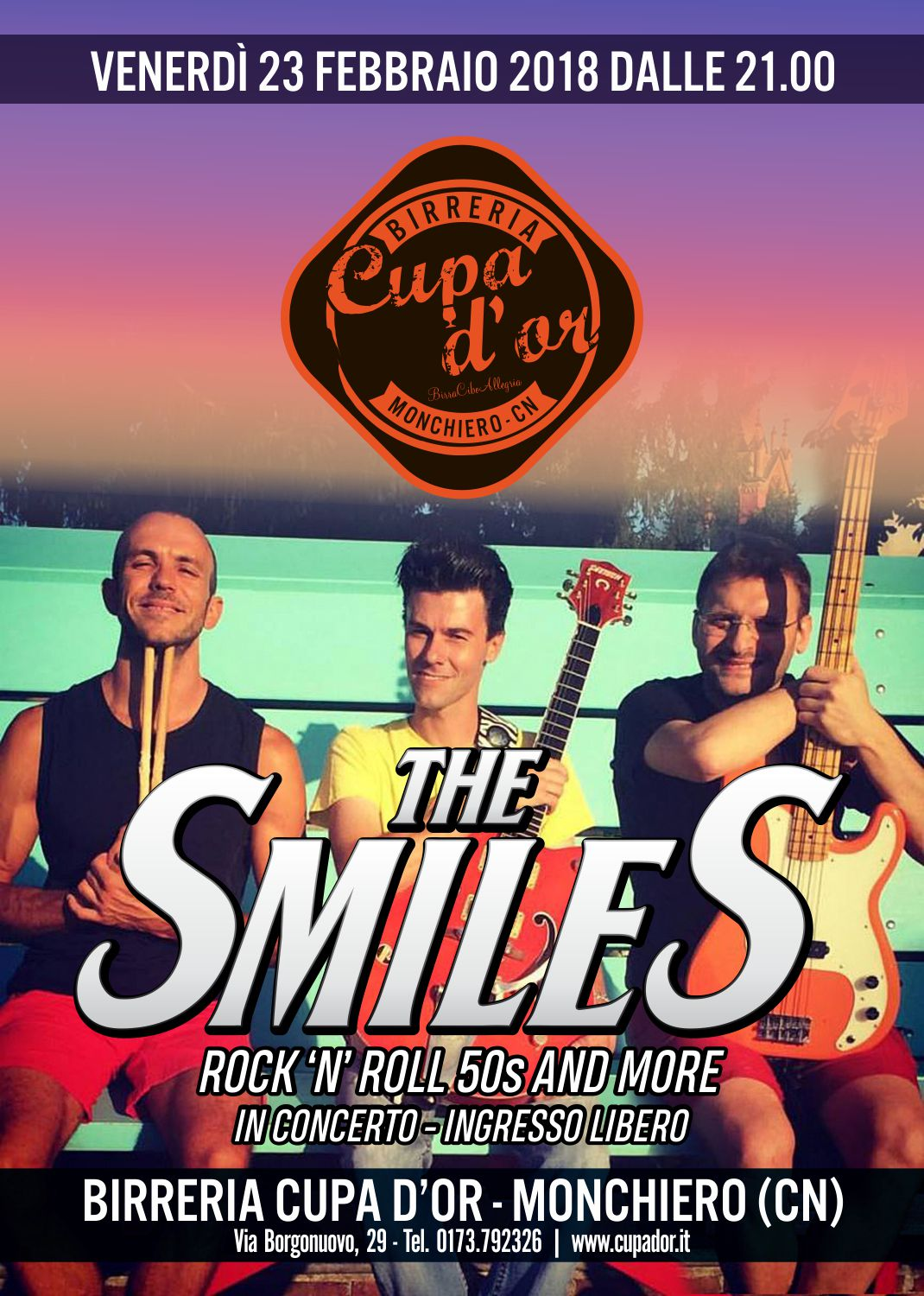 The Smiles Live alla Birreria Cupa d'Or