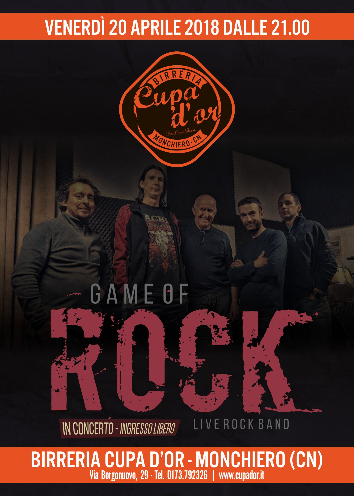 Game of Rock live alla Cupa d'Or
